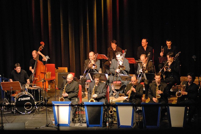 Photo concert du big band en Allemagne Hommage a Django Reinhardt